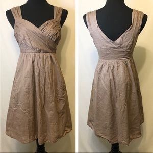 Anthropologie Maeve Brown Cotton Sundress - Size 2